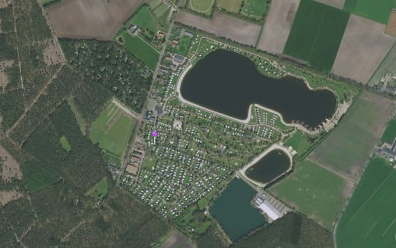 overzicht van 5-sterren recreatiepark Ter Spegelt en omgeving Eersel