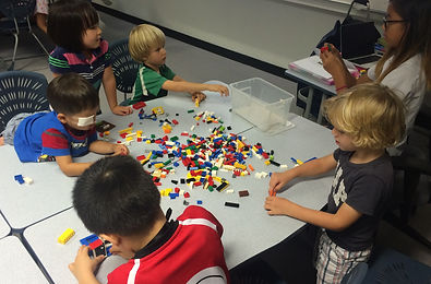 Dutch students playing with lego