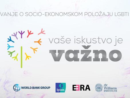 U toku je anketa o socio-ekonomskim dimenzijama isključenosti LGBTI osoba na Zapadnom Balkanu
