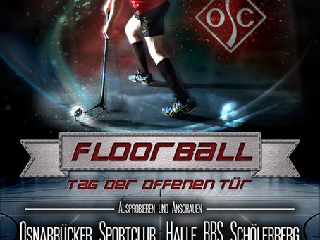 Einladung zum Floorball Tag der offenen Tür 2018 Osnabrück