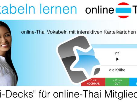 """Thai-Vokabeln lernen mit """"Anki"""""""