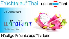 Häufige Früchte aus Thailand