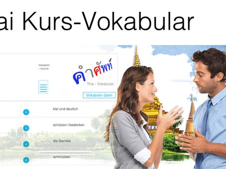 Thai Kurs-Vokabular