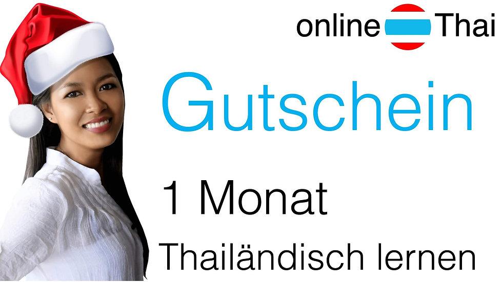 Gutschein: Thai lernen für 1 Monat