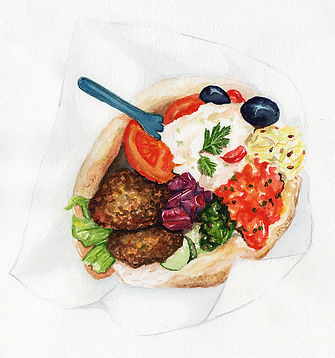 Food_Illustration_Falafel_Sandwich_Kim_T