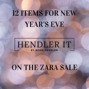 12 Items for New Year's Eve on ZARA Sale