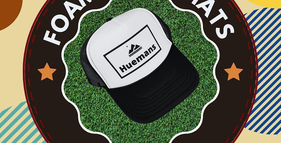 White and Black Foam Front Trucker Hat