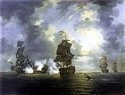 1-Swaine [Francis]-The Capture of the Foudroyant by HMS Monmouth, 28 February 1758 (3e tie