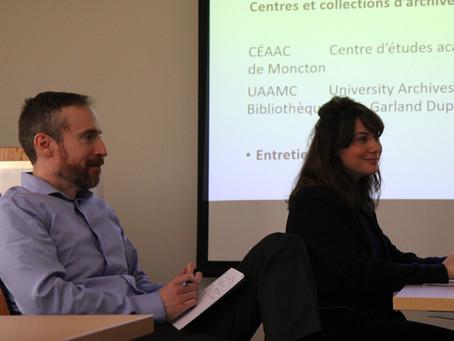 Nos réflexions avancent : réunion de travail à l'Université de Moncton