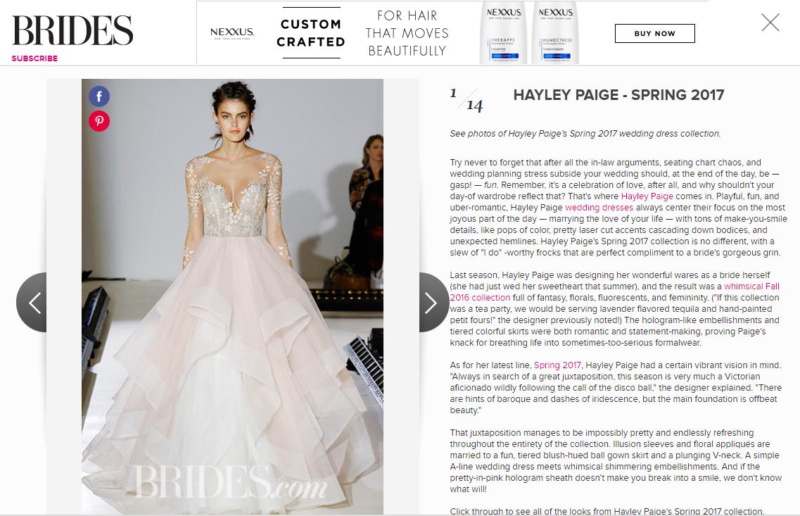Brides.com Hayley Paige SS17