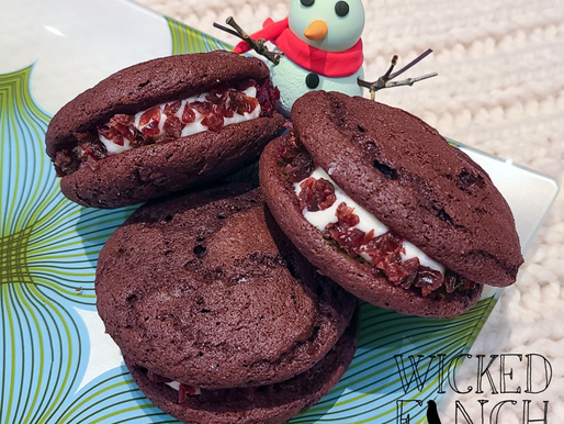 Chocolate Cabernet Whoopie Pies