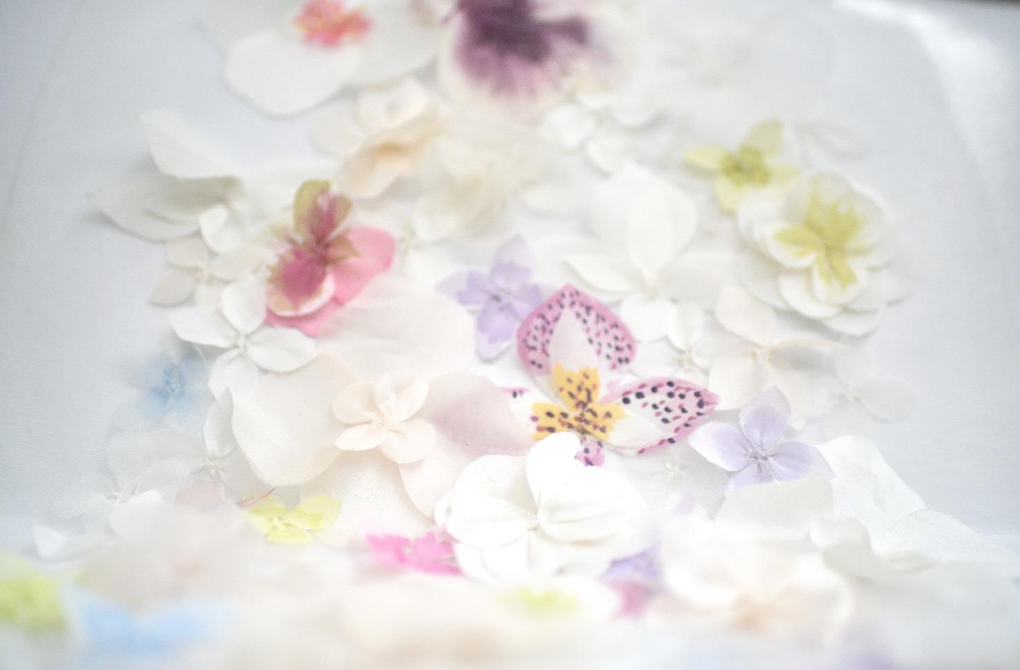 handpainted flower appliques