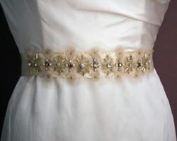 ivory gold sash