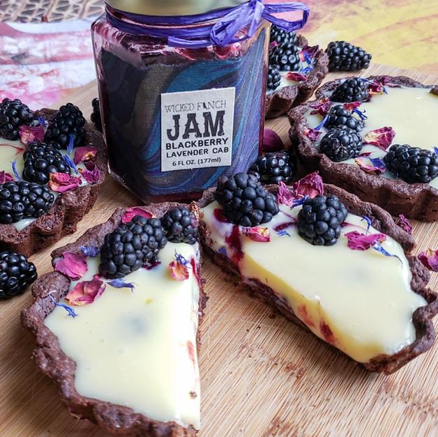 Blackberry White Chocolate Tarts