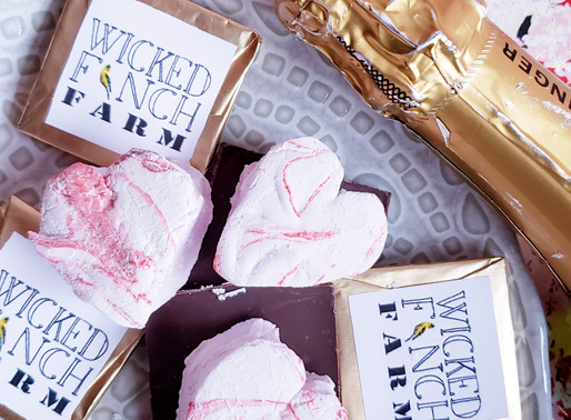 Valentine's Chambord-Infused Marshmallows