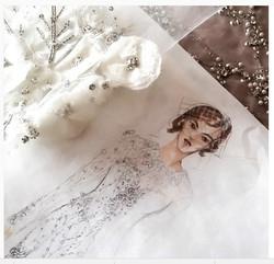 bride embroidery