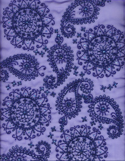 Thread and bead paisley patterns