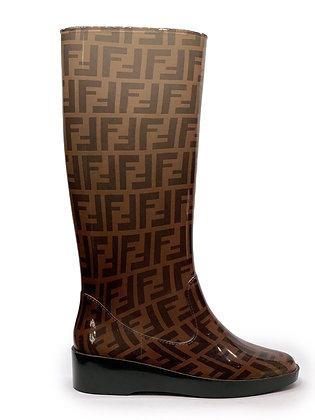 Fendi Monogram Rain Boots