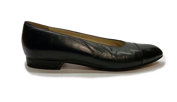 Chanel Black Vintage Flat
