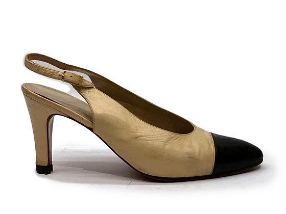 Chanel Slingback Bicolor Shoes
