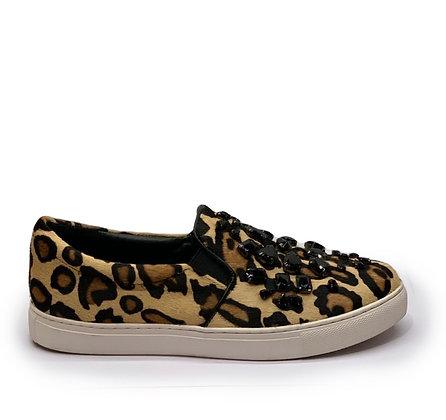 CosmoParis Leopard Slip-On Sneakers