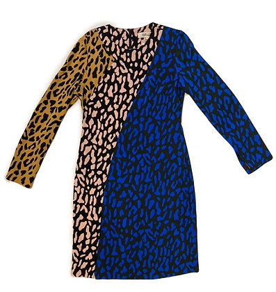 Diane Von Fustemberg Clash Leopard Print Dress