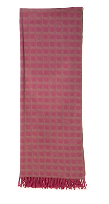 Chanel Pink Reversible Shawl-Scarf 100% Cashmere