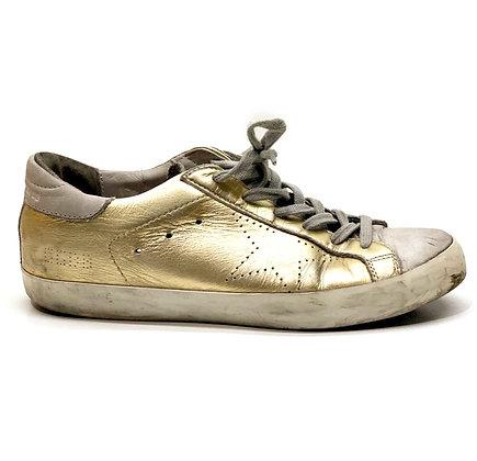 Golden Goose Metallic Gold Leather Superstar Sneakers