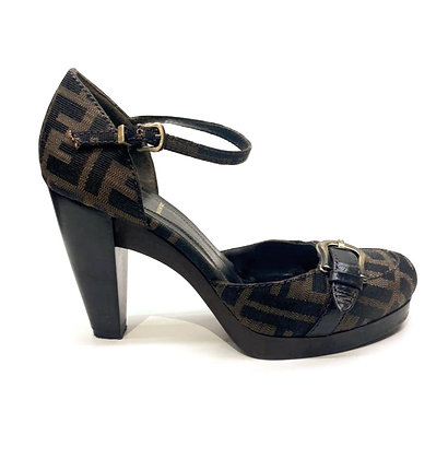 Fendi Zucca Platform Shoes