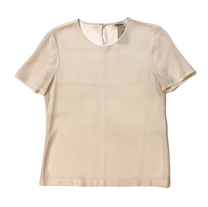 Chanel Silk Short Sleeve Blouse