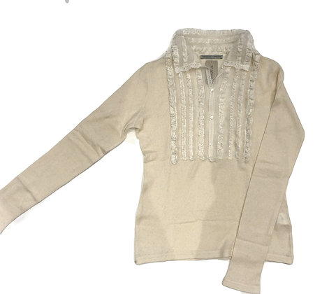 Ermanno Scervino Wool and Lace Polo Sweater