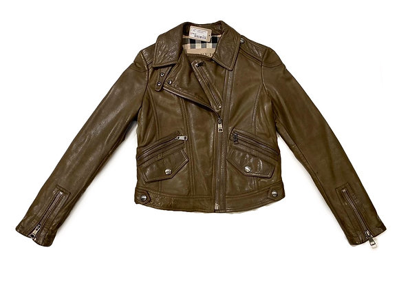 Burberry Leather Biker Jacket