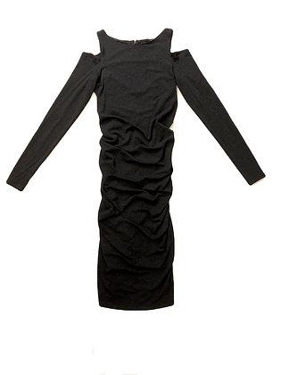 Donna Karan Draped Knit Dress