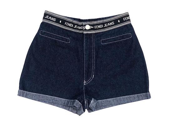 Fendi Blue Jean Vintage Short