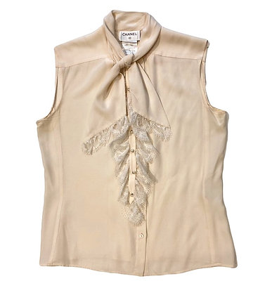 Chanel Silk and Lace Blouse 2004 Autumn Collection