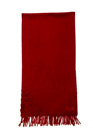 Fendi Red 100% Cashmere Scarf