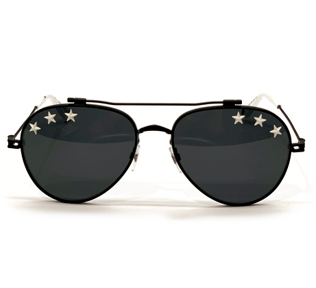Givenchy Rubber Stars Aviator Sunglasses