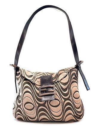 Fendi Beige Embossed Ponyhair Leather Mama Bag