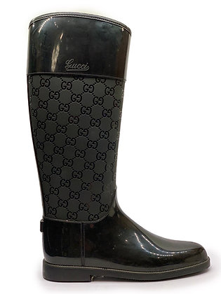 Gucci Monogram Rain Boots