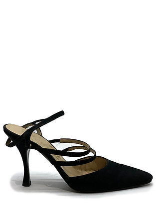 Chanel Vintage Satin Pointed-Toe Shoes