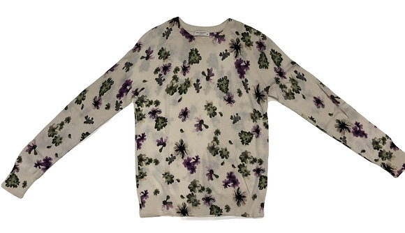 Equipment Cashmere-Silk Floral Sweater