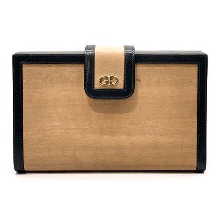 Gucci Vintage Rare Wooden Clutch
