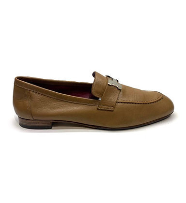Hermes Beige Leather Paris Loafers
