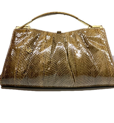Christian Dior Vintage Phyton Clutch