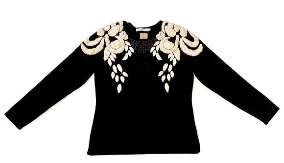 Anne Fontaine Embroidered Sweater