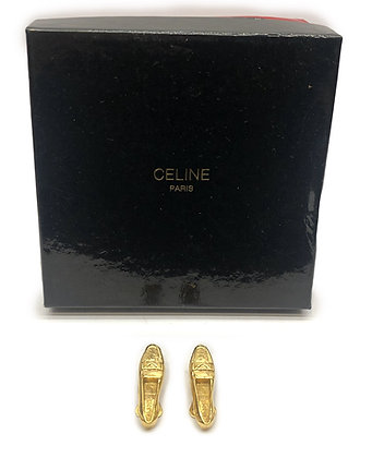 Celine Vintage Shoes Clip-On Earrings
