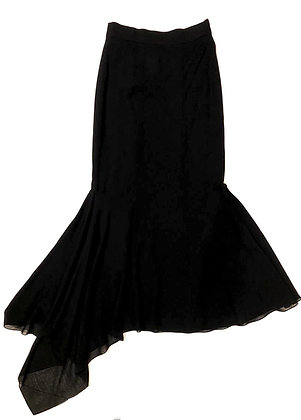 Chanel Vintage Irregular Long Skirt