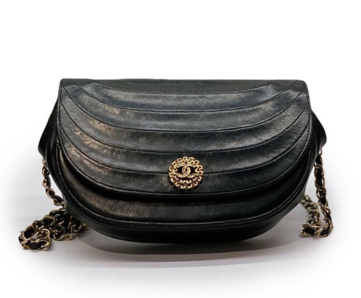 Chanel Vintage  Round Flap Chain Bag