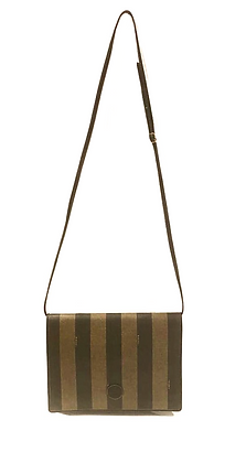 Fendi Vintage Pequin Flap Crossbody Bag
