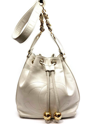 Chanel Vintage Mini Drawstring Bucket Bag